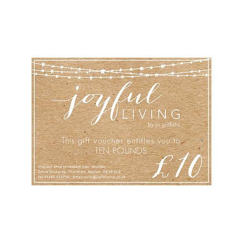 Joyful Living Gift Voucher £10