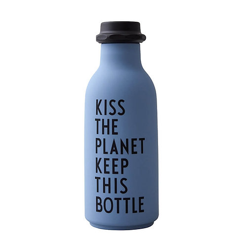 Water Bottle TO GO Blue by Design Letters