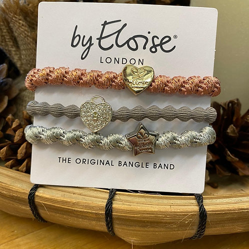 Charm Hair Bands Silver Mix by Eloise