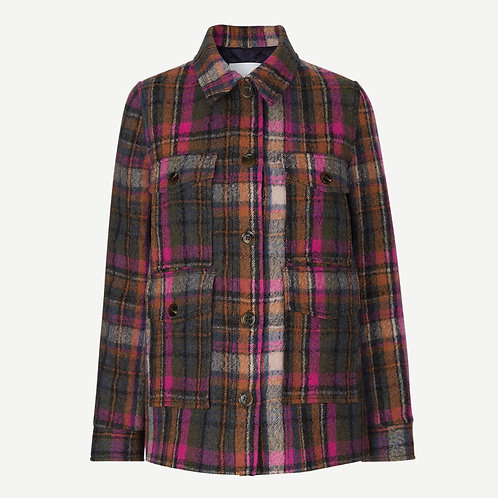 Agathe Jacket Magenta Check by Samsoe Samsoe