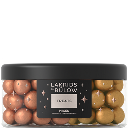 Treats Mixed Large Gold & Classic Coated Liquorice  by Lakrids