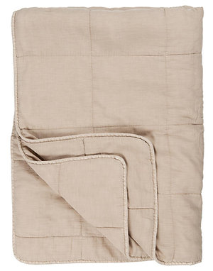 Cotton Quilt Nude Taupe