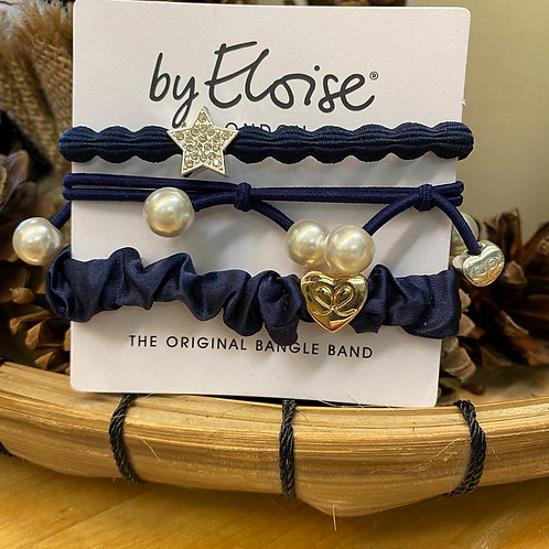 Charm Hair Bands Blue Mix by Eloise