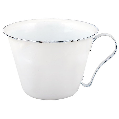 Mini White Enamel Cups