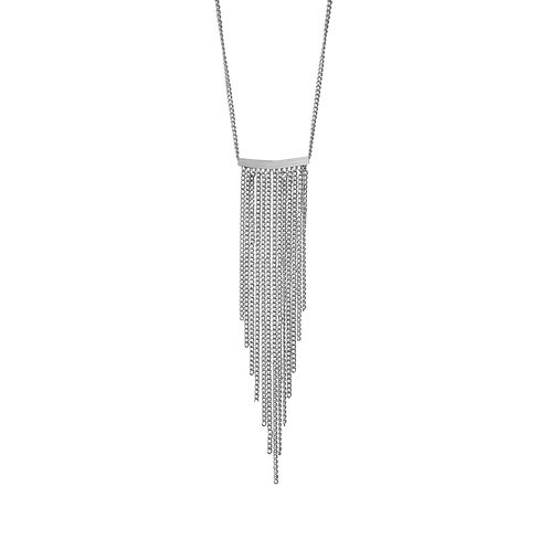 Alaya Chain Necklace Rhodium - by Dansk