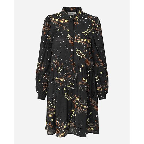 Sofia Printed Dress Black by Munthe