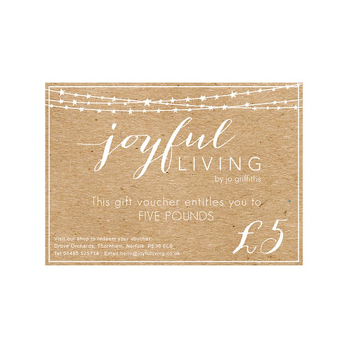 Joyful Living Gift Voucher £5