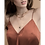 Thumbnail: Alma Square Necklace Gold - by Dansk