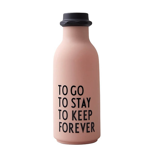 Water Bottle TO GO Pink by Design Letters