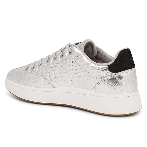 Pernille Croco Silver Trainers by Woden
