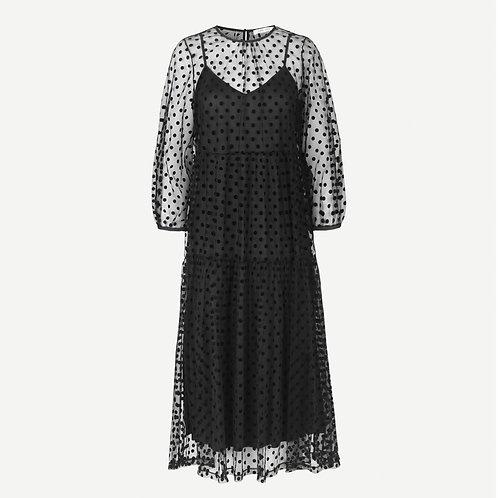 Madie Spot Dress Black by Samsoe Samsoe