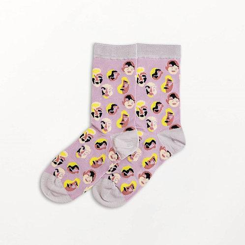 Visage Funkie Sock Silver by Becksondergaard