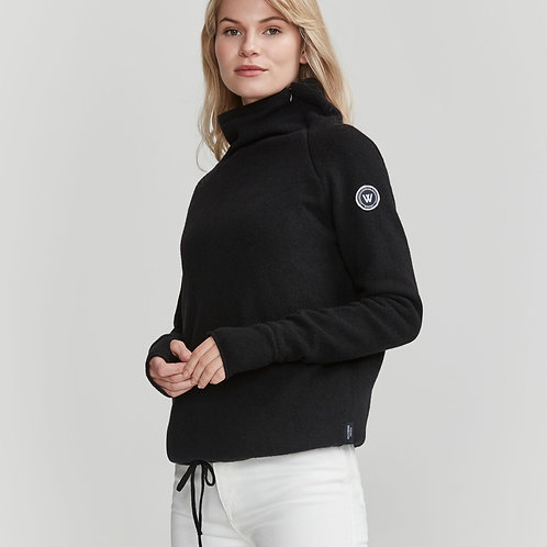 Martina Windproof Jumper Black by Holebrook