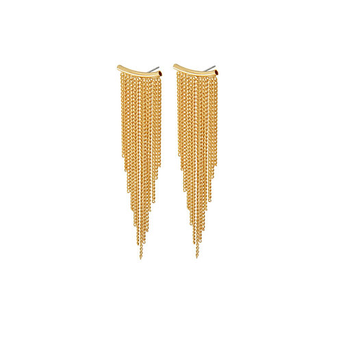 Alaya Chain Earrings Gold - by Dansk