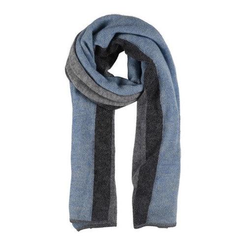 Etine Stripe Knit Scarf Blue/Grey by Gustav
