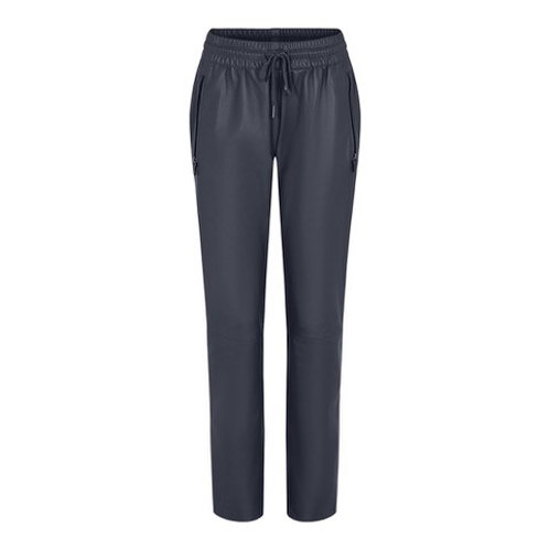 Fia Leather Jog Pants Navy by Gustav