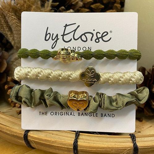 Charm Hair Bands Khaki Mix by Eloise