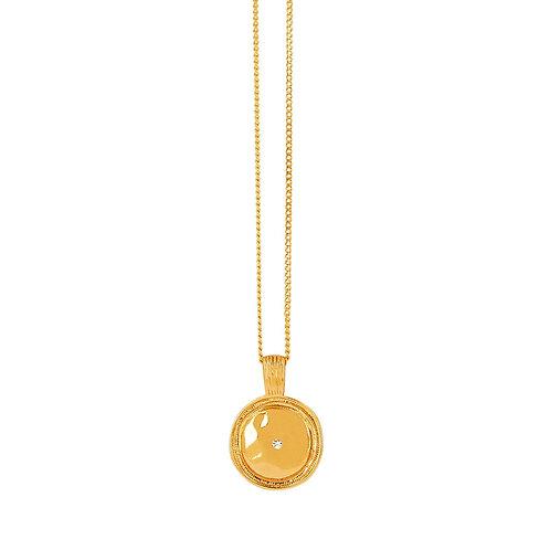Shimmer Medallion Necklace Gold - by Dansk