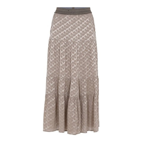 Alice long frill skirt Champagne by Gustav