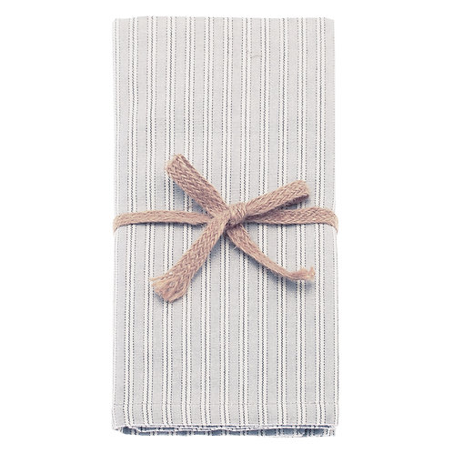 Grey Ticking Stripe Napkin (Set of 4)