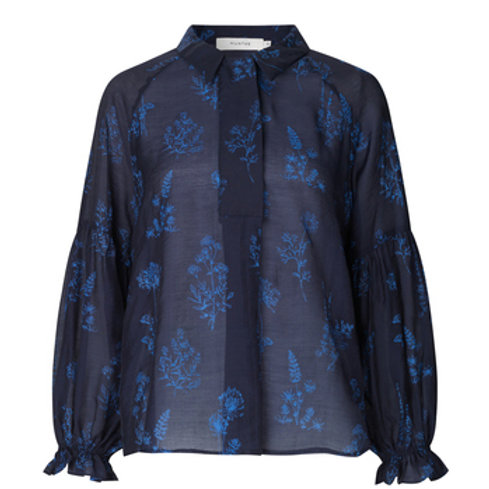 Sodo Printed Blouse Blue by Munthe