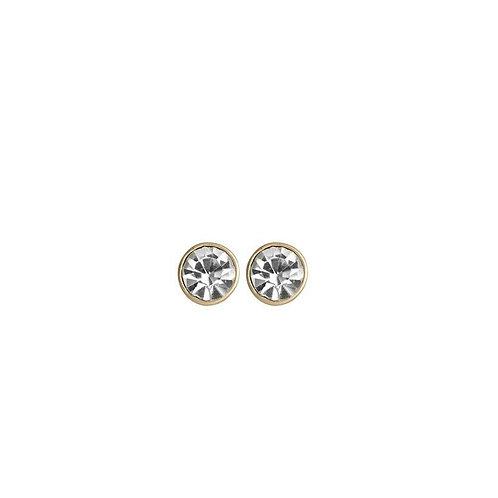 Shimmer Crystal Earrings Gold - by Dansk