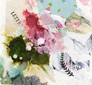 Petite peinture d'inspiration botanique, encadrée de passe-partout cartonné à envoyer, offrir ou accrocher chez soi ..._1.jpg