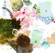 Petite peinture d'inspiration botanique, encadrée de passe-partout cartonné à envoyer, offrir ou accrocher chez soi ...9.jpg