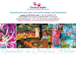 November in Christins Atelier!