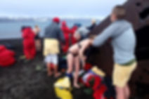 デセプション島で水泳