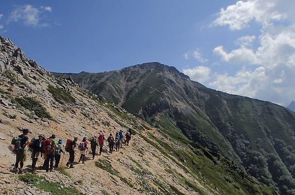 大天井岳へ縦走