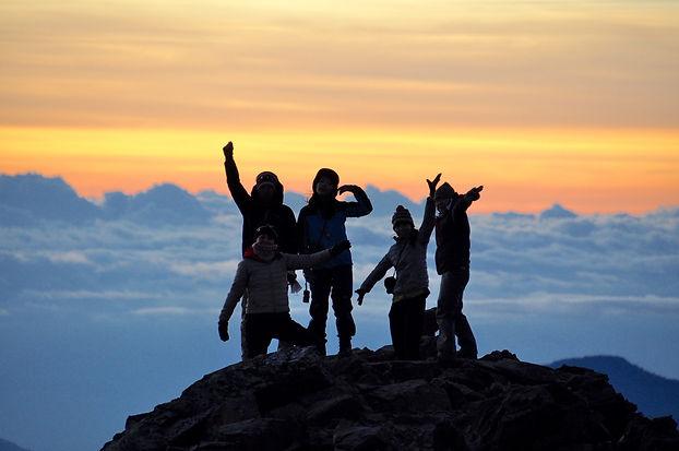 台湾最高峰玉山山頂