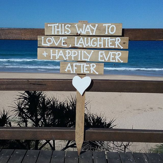 I love where our beach signs pop up...to