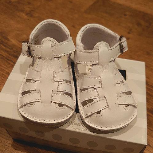 Pretty Originals White Leather Sandals