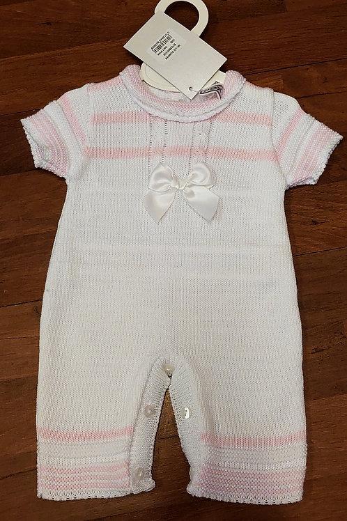 Pex Millie White Knitted Romper