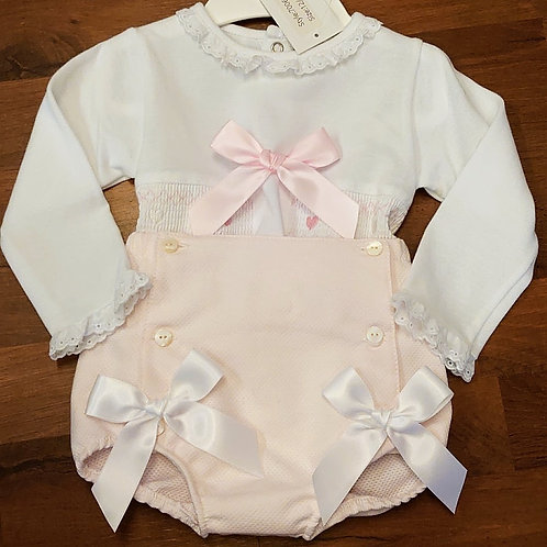 Little Nosh Pink Jam Pants Set