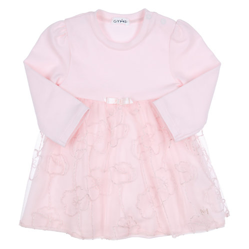 GYMP Pink Lace Overlay Dress