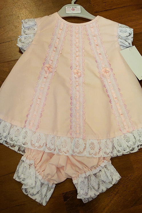 Scotia Pale Pink Tunic & Bloomers