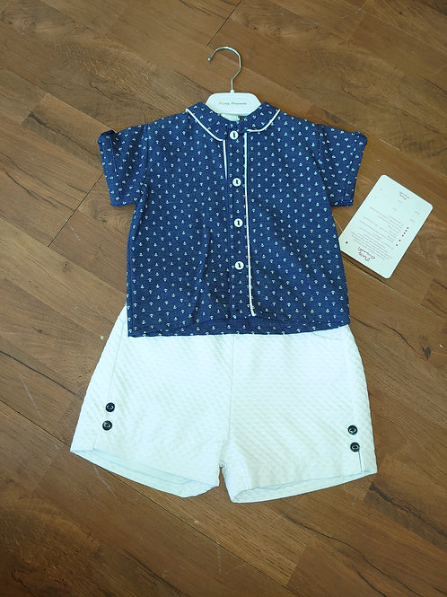 Pretty Originals Navy Nautical Short Set