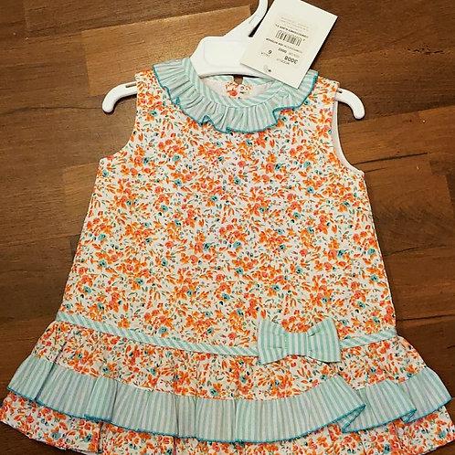Alber Floral Drop Waist Dress