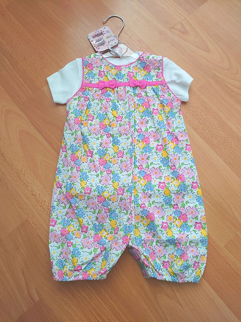 Chloe Louise Floral Dungaree Set