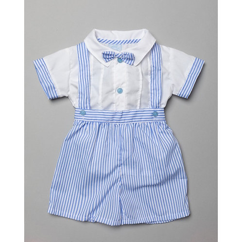 Rock A Bye Striped Short Set with Dickie Bow