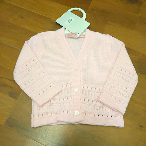 PEX Pink V-Neck Cardigan
