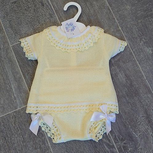Little Nosh Lemon Knitted Jam Pant Set