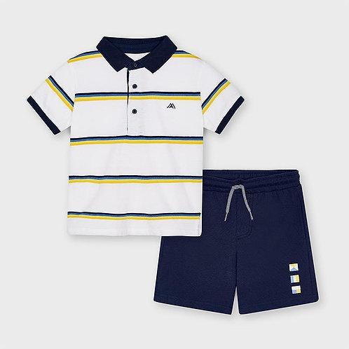 Mayoral Smart stripe Short Set