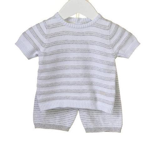 Bluesbaby White/grey shorts set