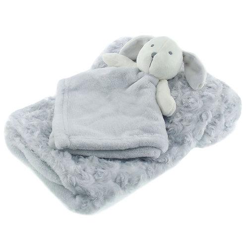 Grey blanket and comforter set