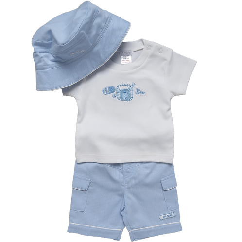 Amore 'Hello Bear' Short Set with Hat