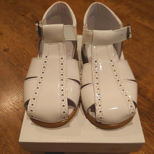 Pretty Originals White Patent Sandal