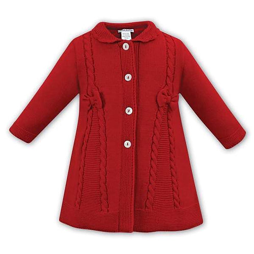 Sarah Louise red knit coat
